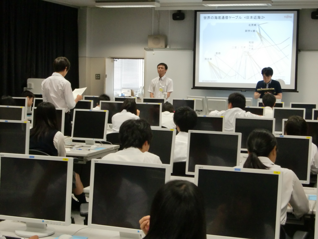 石橋先生と一緒に授業
