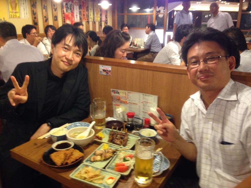 宮崎先生と一杯